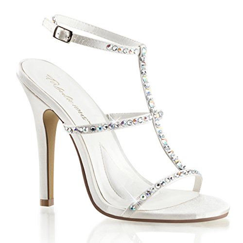 Satin Sandaletten, Damen, Weiss (ivory)