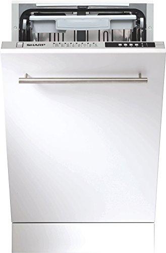 Sharp QW-S41I472X-DE Unterbaugeschirrspüler / A++ / AquaStop / Display / 8 Programme / 6 verschiedene Temperaturstufen / 45 cm breit / besonders leise