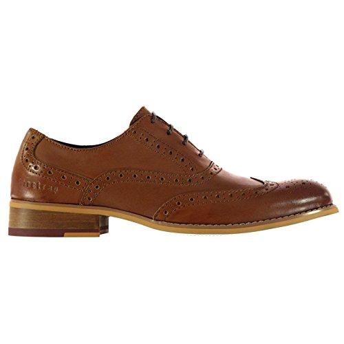 Firetrap Herren Spencer Business Halbschuhe Elegante Brogue Budapester Schuhe Braun 7.5 (41.5)