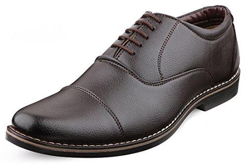Escaro Men's Brown Formal Oxford Lace Up Dress Shoes (ES1039KB_BROWN_6)