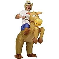 Costume gonfiabile da Cowboy con cavallo a figura intera