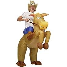 Gonfiabile cowboy a cavallo, per adulti carnevale nuovo