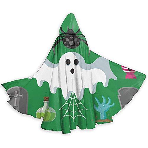 BYME Erwachsenen Mantel Unisex Halloween Kostüm Candy Horror Gesicht Cosplay Mantel (Candy Gesicht Kostüm)