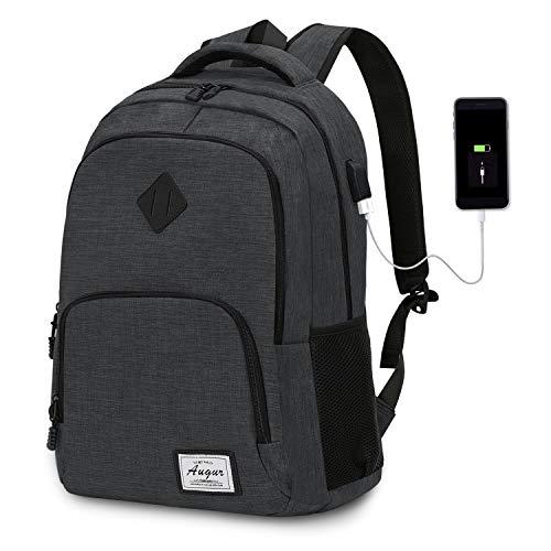 Wasserdichte Laptop-rucksack (Laptop Rucksack Wasserdicht Schulrucksack Reiserucksack Damen Herren Daypacks Rucksack Grosse Kapazität Multifunktionsrucksack Diebstahlsicherung Tagesrucksack für Business 15,6 Zoll, 20-35L (Schwarz))