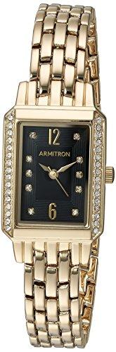 Armitron Men's Quartz Stainless Steel Dress Watch, Color Silver-Toned (Model: 20/5144BKSV)