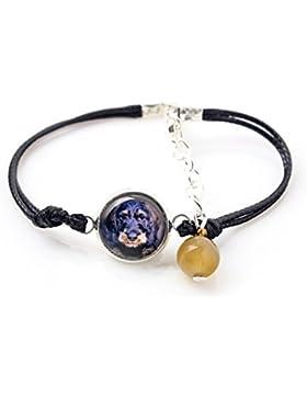 Dackel, Armband für Menschen, die Hunde lieben, Foto Schmuck, handgefertigt