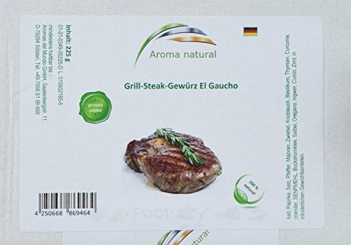 Aroma natural Grill-Steak-Gewürz El Gaucho, 2er Pack (2 x 225 g) Gaucho Steak