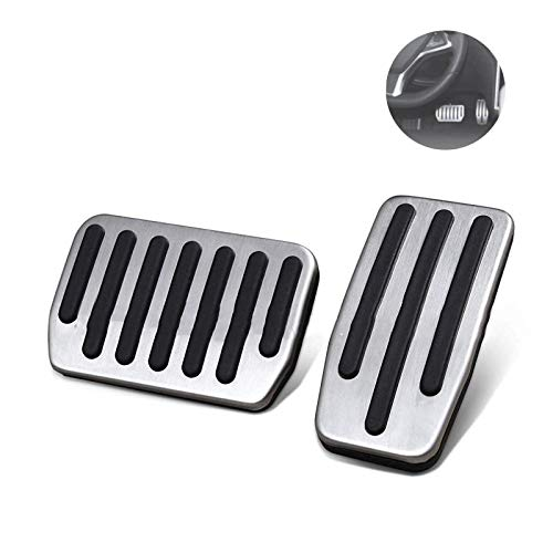 Womdee Tesla Model 3 Accessories, 2 Set Non-Slip Performance Foot Pedal Pads Auto Aluminium Accelerator Brake Replacement Pedal Cover with Rubber Pull Tabs for Tesla Model 3 … (B)