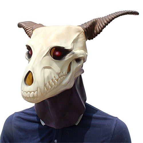 Baoffs Karneval Party Cosplay Dekoration Halloween Party Party Dress up Requisiten Weiße Ziege Form Maske Film Magic Latex Maske. Voller Kopf Kostümzubehör