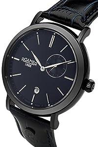 Para hombre Roamer Vanguard reloj infantil de cuarzo con azul esfera analógica y azul correa de piel 936950 40 45 09 de Roamer