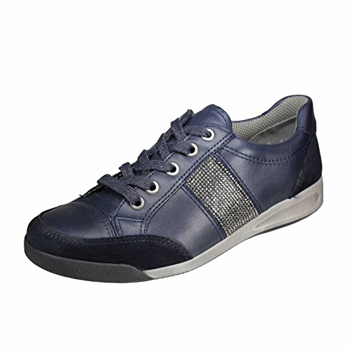 ara  12-34429-12 Rom, Chaussures de ville à lacets pour femme bleu foncé