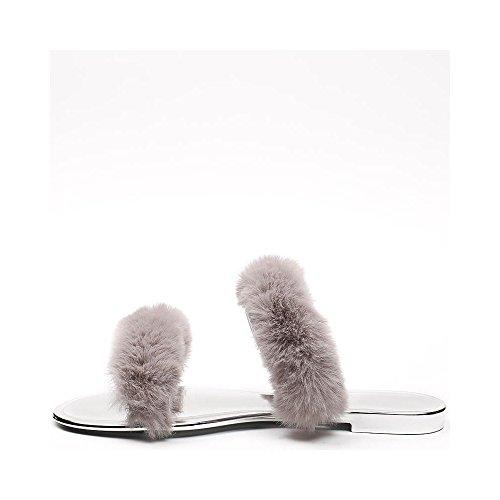 Ideal Shoes ,  Infradito donna Grigio