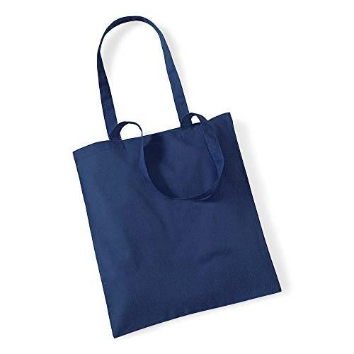 Westford MillBorsa in cotone con lunghi manici Grigio azzurro