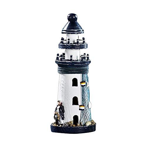 Leuchtturm Dekor Holz Maritime Leuchtturm Mittelmeer Style Leuchtturm Haus Dekoration 25 CM, Geschenk Für Hochzeit, Haus, Party -