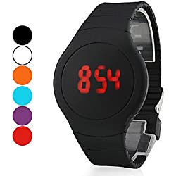 New Arrival Women Men Cool Unisex Ultra-thin Sport Touch LED Digital Round Dial Bracelet Wrist Watch Casual Watches Dress Watch