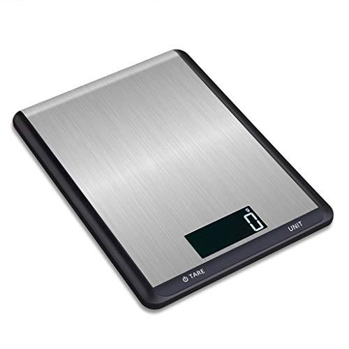 Pesaje digital de cocina, balanza electrónica de cocina de acero inoxidable 5 kg Balanza electrónica for el hogar Báscula de plataforma de pesaje de cocina ligera de alta precisión 10 kg Balanza elect
