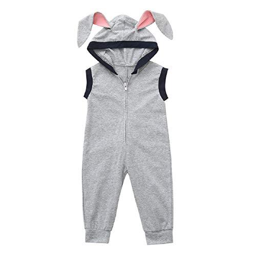 Liusdh Baby-Strampler für Kinder, ärmellos, Kaninchen, Ostern