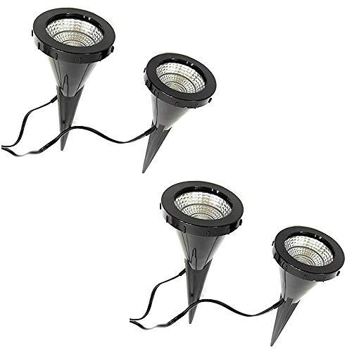 "2 x 2 LED-Pflanzen-Strahler\""Jasmin\"" Handschalter LED-Pflanzen-Strahler-Spot Blumen-Zimmerpflanzen-Blumenkübel-Blumentopf-Strahler-Spotlight Dekorations-Stimmungs-indirekter-Strahler-Spot"