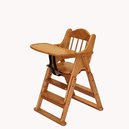 QINGPINGGUO QPG Baby Stuhl Esszimmer Stuhl Massivholz Klapp Baby Höhenverstellbar Esszimmerstuhl Multifunktionale Mahlzeit Essecke
