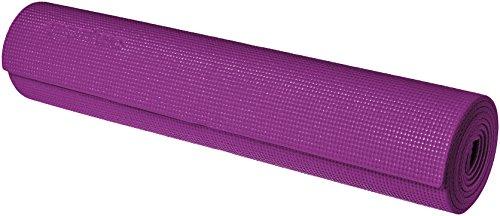 AmazonBasics - Tappetino per yoga e allenamenti, con cinghia di trasporto, 0,63 cm, Viola