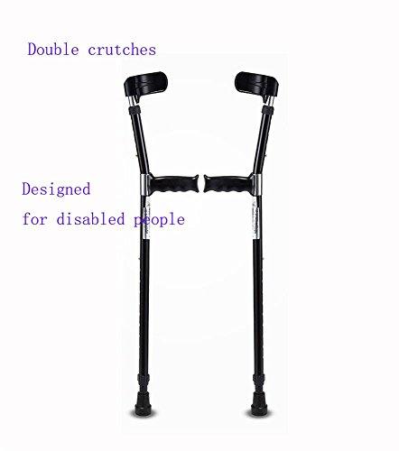 G&X Paar Gehhilfen Unterarm-Gehstützen Krücken (Einstellbare Höhe) Entworfen Für Behinderte Menschen