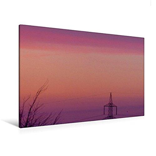 Calvendo Premium Textil-Leinwand 120 cm x 80 cm quer, Himmel wie gemalt | Wandbild, Bild auf Keilrahmen, Fertigbild auf echter Leinwand, Leinwanddruck: Sonnenunteränge Natur Natur