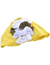 Top Baby - Schöne Mädchen Hüte Baumwolle mit Blumen und Knopf Details