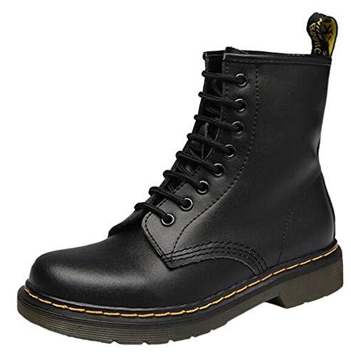DADAWEN ,  Damen Biker Boots , schwarz - schwarz - Größe: 36.5 Western Wellington Boot