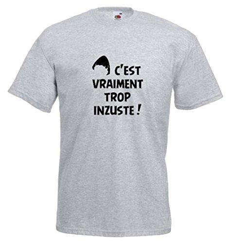 Steefshirts Herren T-Shirt schwarz schwarz Small Grau Meliert