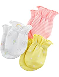 fe38b25a7 Ehdching 3 pack Baby Gloves Cotton no Scratch Mittens for 0-12 ...