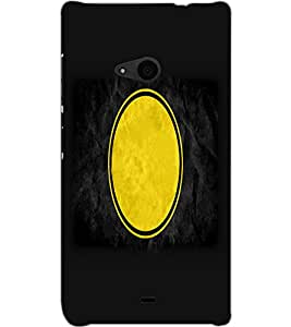 MICROSOFT LUMIA 535 DUAL YELLOW CIRCLE Back Cover by PRINTSWAG