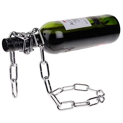 Kyrieval Kette Weinflaschenhalter Bottle Holder Magie Chain Hängeweinregal Weinständer (Magie Seil Wine Bottle Holder)