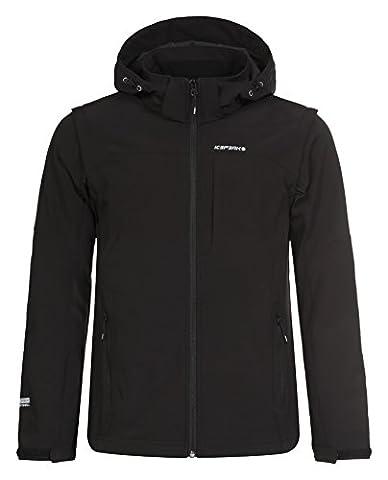 ICEPEAK Herren Softshell Jacket Leonidas, Black, XL,