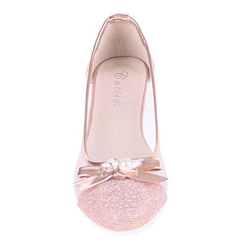 CATISA-bal3_rs115, Ballerine donna Beige (Champagne)