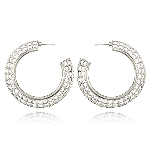 Presock Pendientes Mujer,Aretes 18 Styles Indian Tribal Brass Earring Dangle Drop Earring Flower Ornate Swirl Gypsy Earring For Women Boho Vintage Earring 4222SV