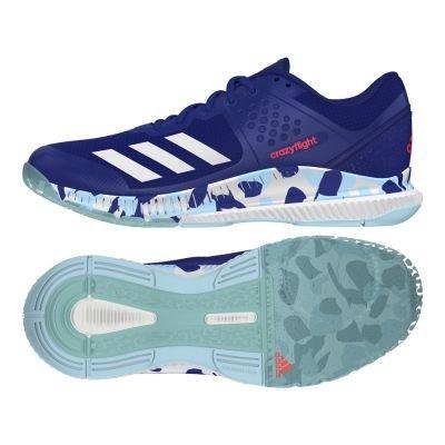 adidas Crazyflight Bounce W, Scarpe da Pallavolo Donna, Blu/Bianco/Azzurro (Tinmis/Ftwbla/Azuhie), 41 1/3 EU