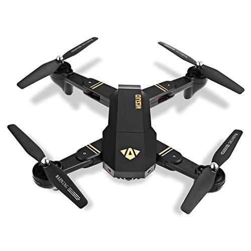 Drone, J - NEGOZIO Giocattolo Drone Con Telecamera Aereo Telecomandato Aereo, VISUO XS809HW Wifi FPV 2MP Fotocamera 2.4G Selfie RC Quadcopter Giocattolo