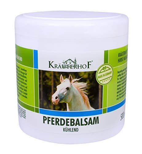 """Pferdebalsam kühlt und belebt, wertvolle Kräuterextrakte aus Rosskastanie, Arnika, Rosmarin und Minzöl\""""Kräuterhof\"""" 500ml Dose mit Alufolie versiegelt"""