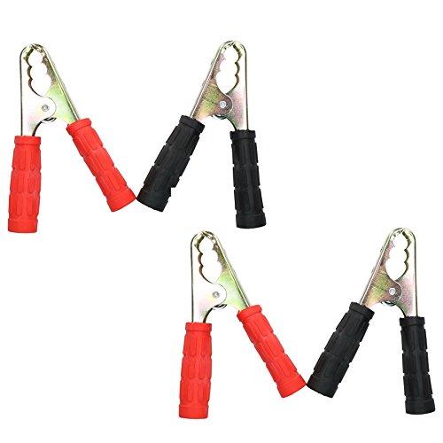 4 x Starthilfekabel Booster Pack Austausch Klemmen Clips Krokodil Griffe - Feder-clip-terminal