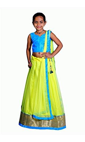 Xomantic Fashion Yellow Lehenga choli For Girls  available at amazon for Rs.240