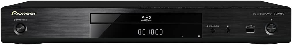 Pioneer Blu-Ray Player BDP-180-K 4K up-Scaling/Voice with a Quick View with The Audio