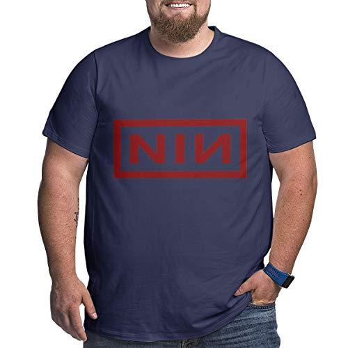 Eivan N-I-N Herren T-Shirt L Rundhalsausschnitt Baumwolle Kurzarm Shirt Gr. XXL, Navy