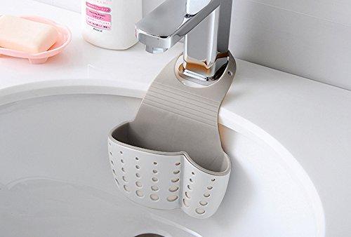 Home Cube 1Pc Adjustable Hanging Drain Bag Basket Bath Storage Gadget Tools Sink Holder For Kitchen - Random Color