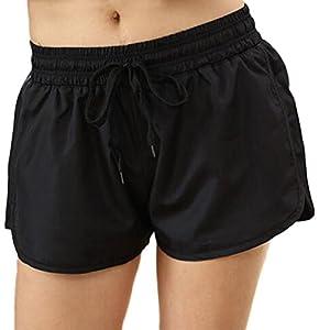 Nanxson Shorts Damen Frauen lose Sporthose Fitness Jogging Kurze Hose mit elastischer Taille YDKW0027