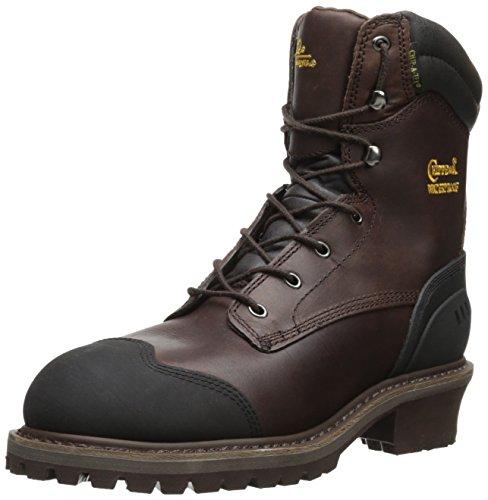 Chippewa 55053 Hommes Large Cuir Chaussure de Travail Chocolat