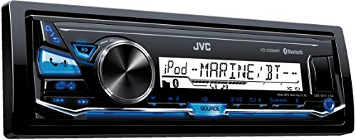 JVC KD-X33MBT Digital Media-Receiver für maritimen Einsatz (Bluetooth-Technologie, Front-USB/Aux- Eingang) Schwarz (Audio Car Marine)