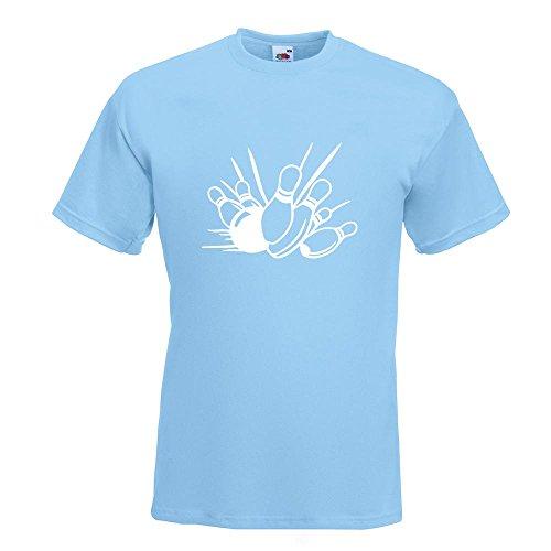 KIWISTAR - Bowling Strike Kegeln T-Shirt in 15 verschiedenen Farben - Herren Funshirt bedruckt Design Sprüche Spruch Motive Oberteil Baumwolle Print Größe S M L XL XXL (T-shirt-designs Bowling)