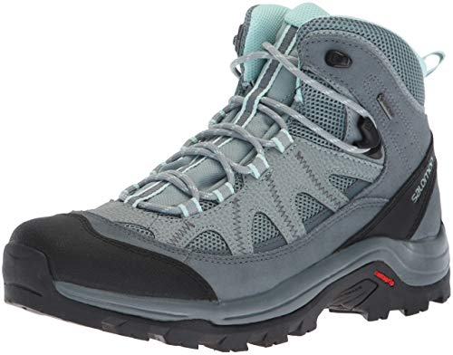 Salomon authentic ltr gtx w, stivali da escursionismo donna, grigio lead/stormy weather/eggshell blue, 37 1/3 eu