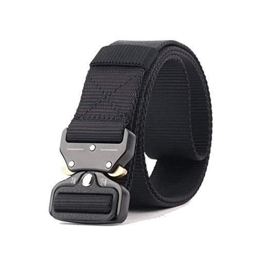 GRULLIN Tactical Riggers Belt, MOLLE Quick Release Buckle Belt CQB Military Web Nylon Waist Band, Men EDC Waist Belt