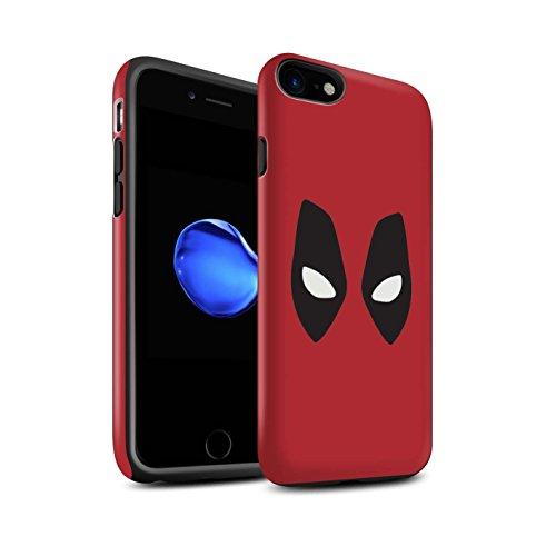STUFF4 Matte Harten Stoßfest Hülle / Case für Apple iPhone 8 / Deadpool Maske Inspiriert Muster / Superheld Comic-Kunst Kollektion